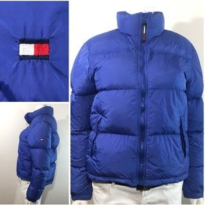 Vintage Tommy Jeans Down Feather Puffer Logo Flag